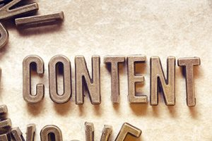 content word made from metallic letters