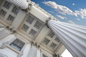 columns and roof of courthouse from below | Mass Tort Marketing | Product Recall Advertising