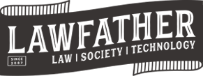 The logo of LawFather a Denver and Portland based attorney web design and media company